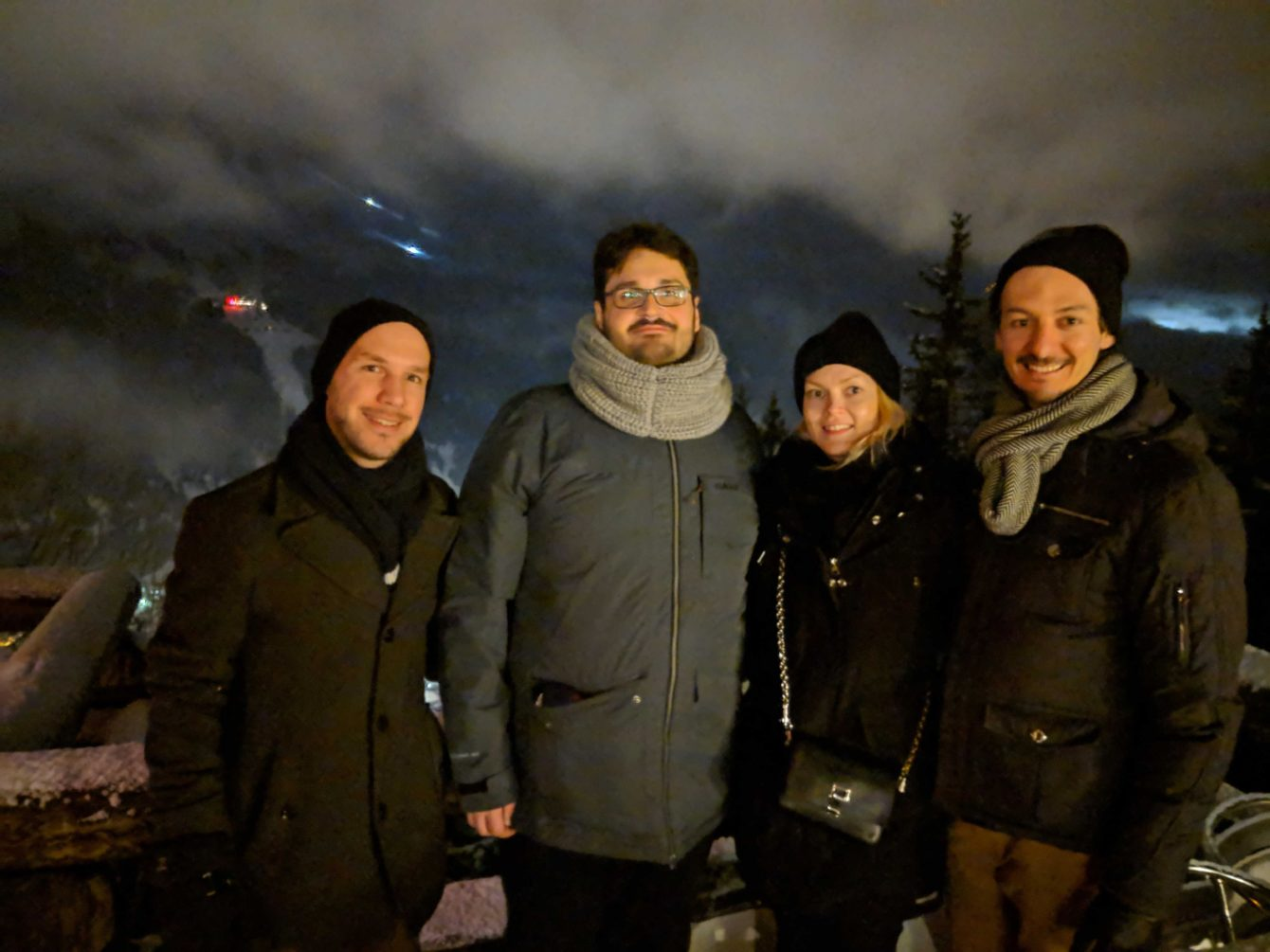 Florian Loretan, Mario Vercellotti, Päivi Kaunisto and David Corbacho at Davos