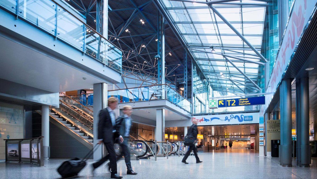 Finavia Helsinki Airport arrivals area
