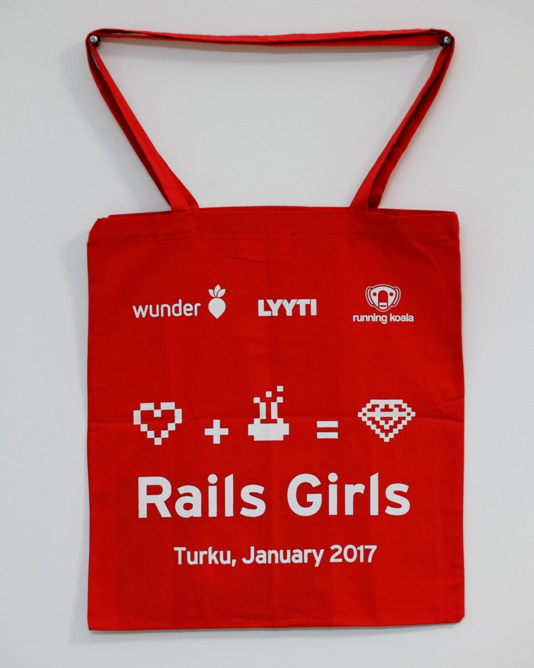 Canvas bag of Rails Girls event