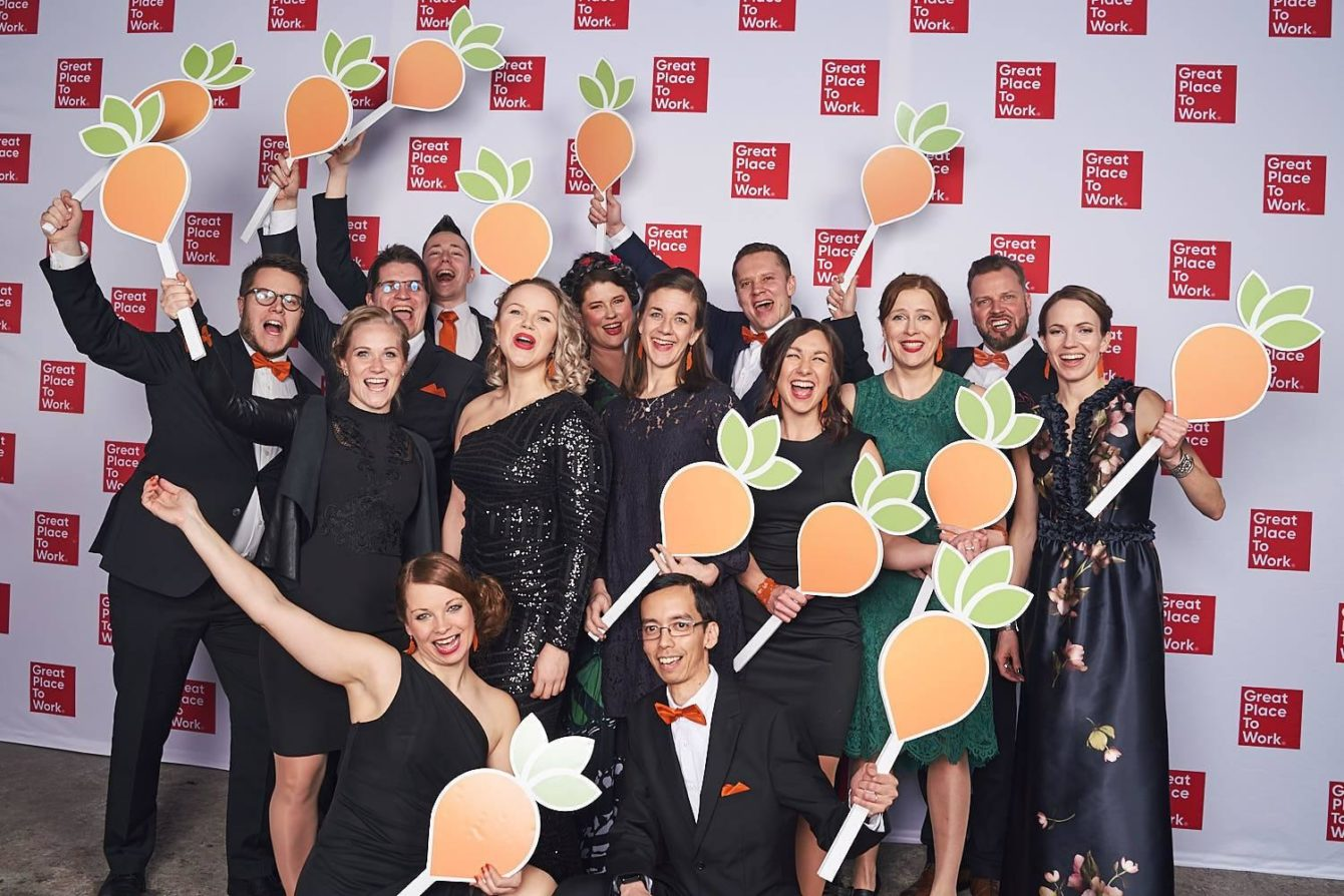Group of Wunderers on Great Place to Work 2019 gala