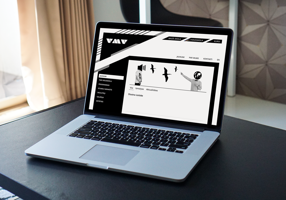 Valmiera art school's website