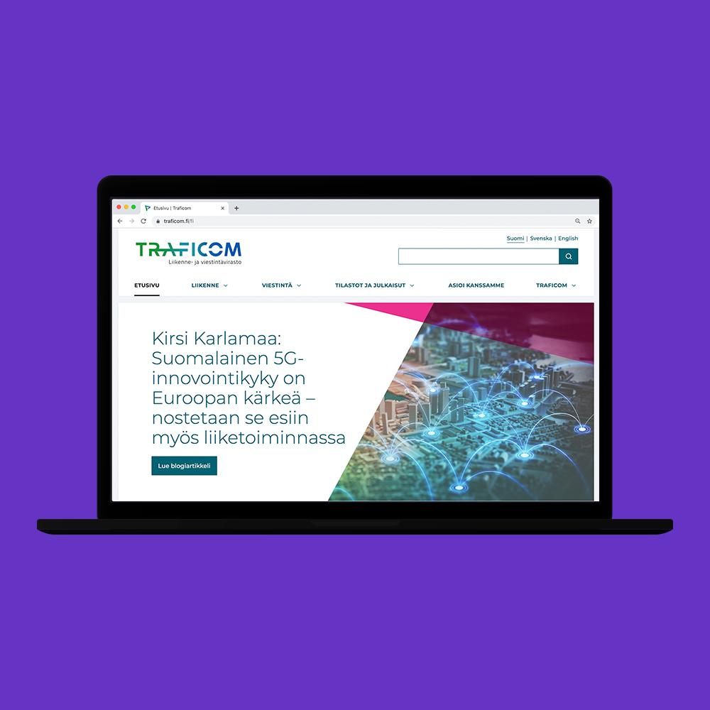 Traficom website