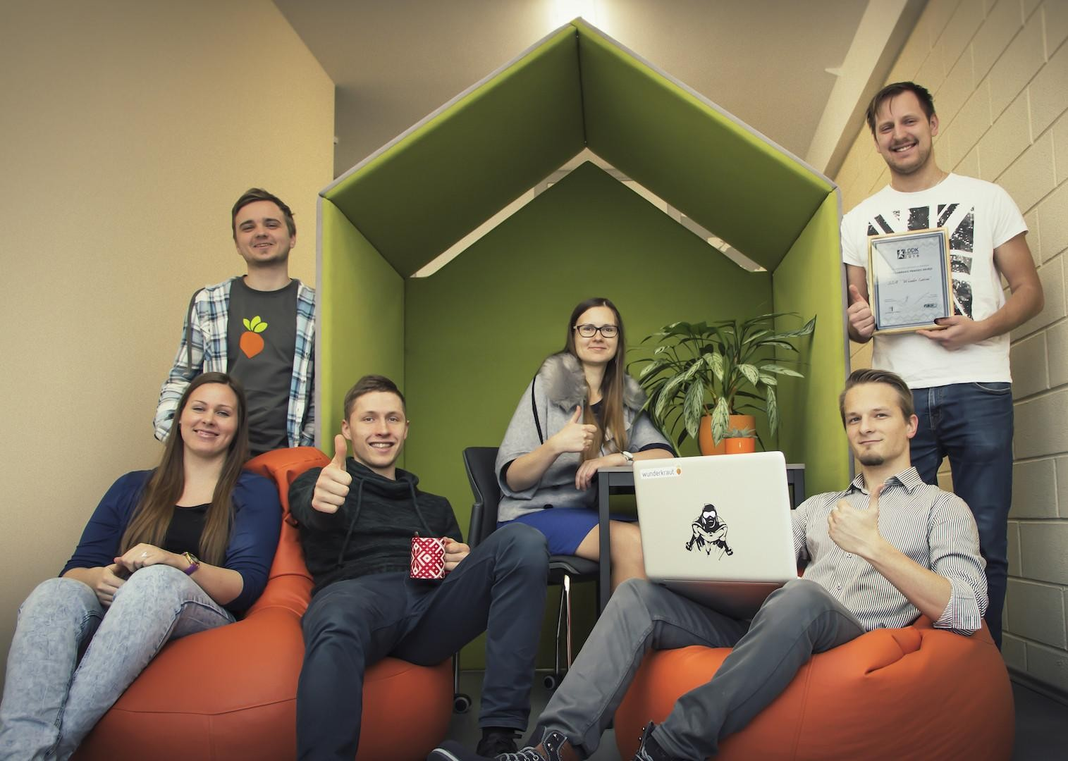 Six interns at Valmiera office