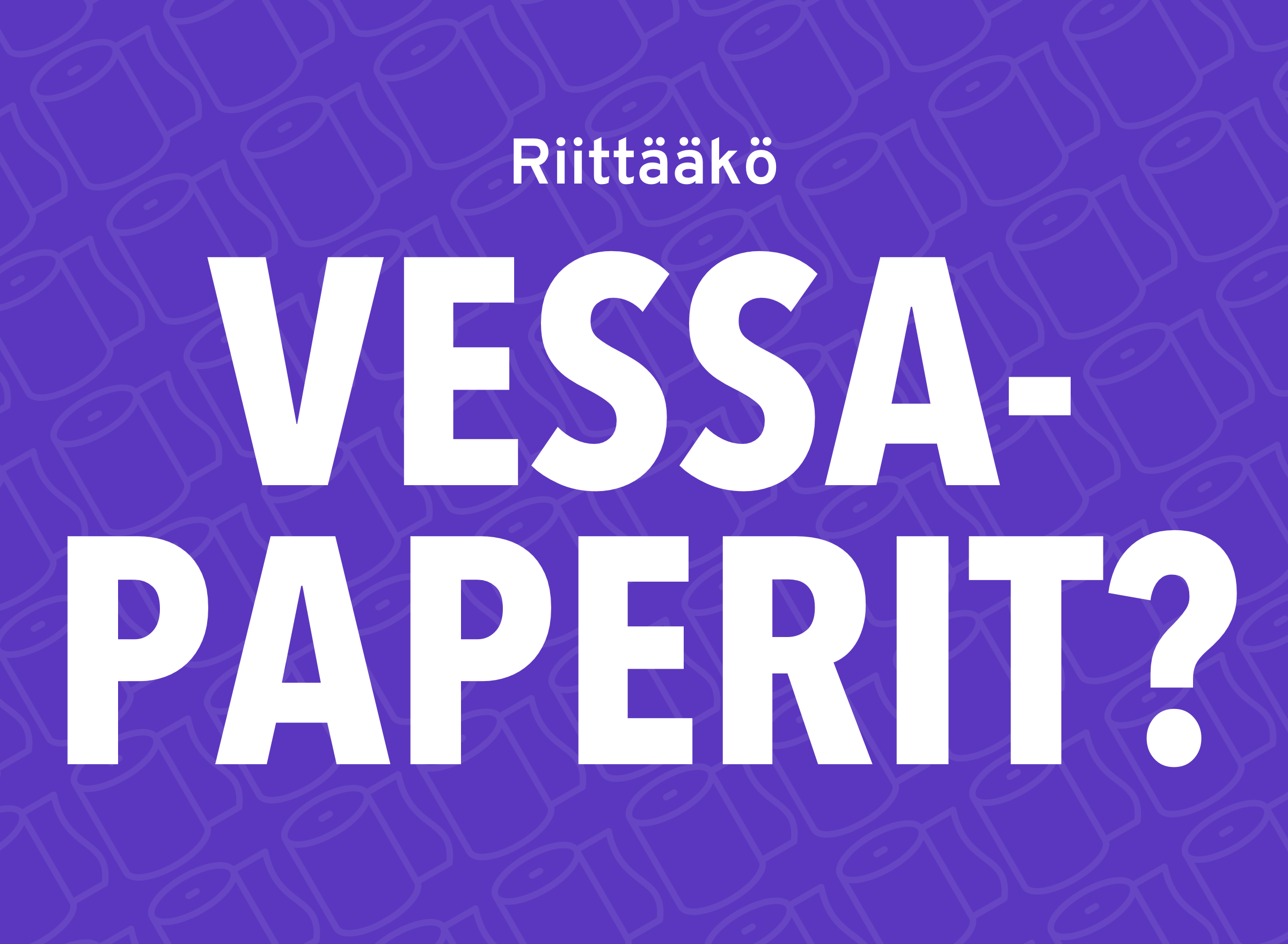 """Meme with text in finnish: """"Do you have enough toilet paper?"""""""