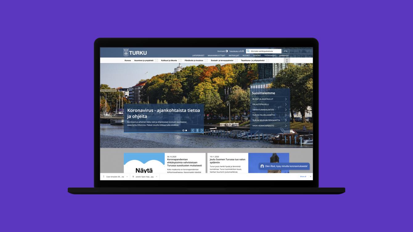 Screenshot from the turku.fi -site on 2020